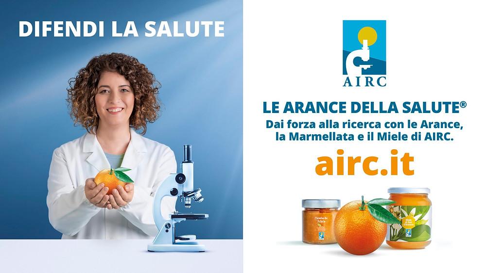Le arance della salute della Fondazione AIRC.