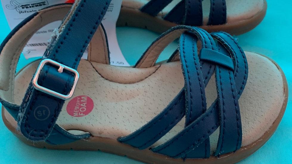Little kid size 7, stride rite navy blue sandal