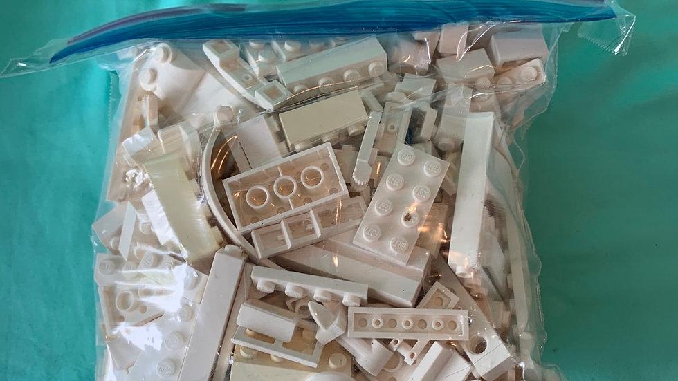 White Lego pieces