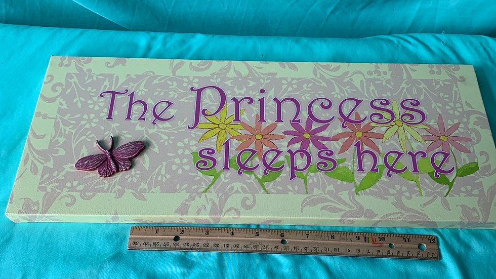 Princess sleeps here sign