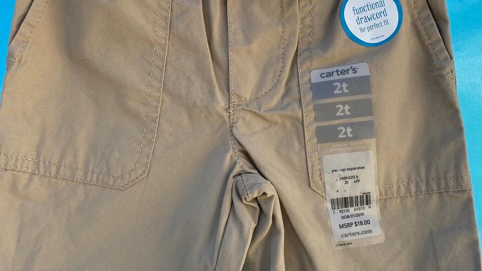 Size 2T, khaki shorts