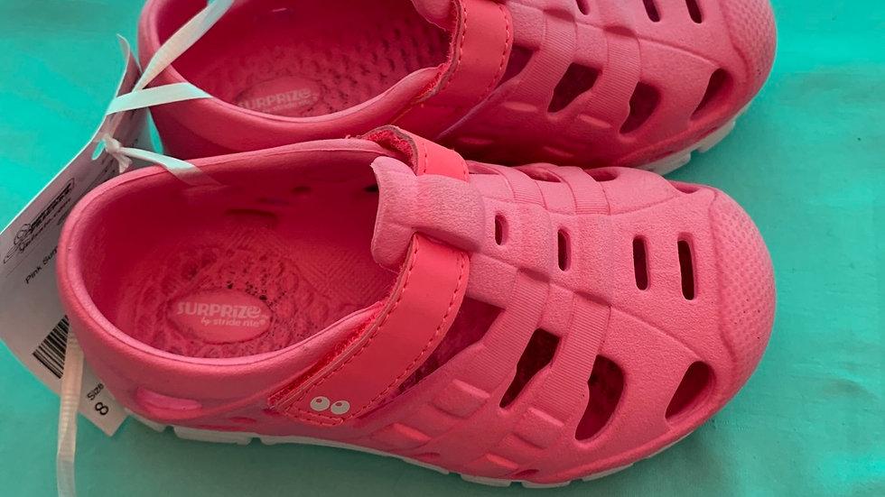 Little kid size 8, surprise sneaker sandal pink