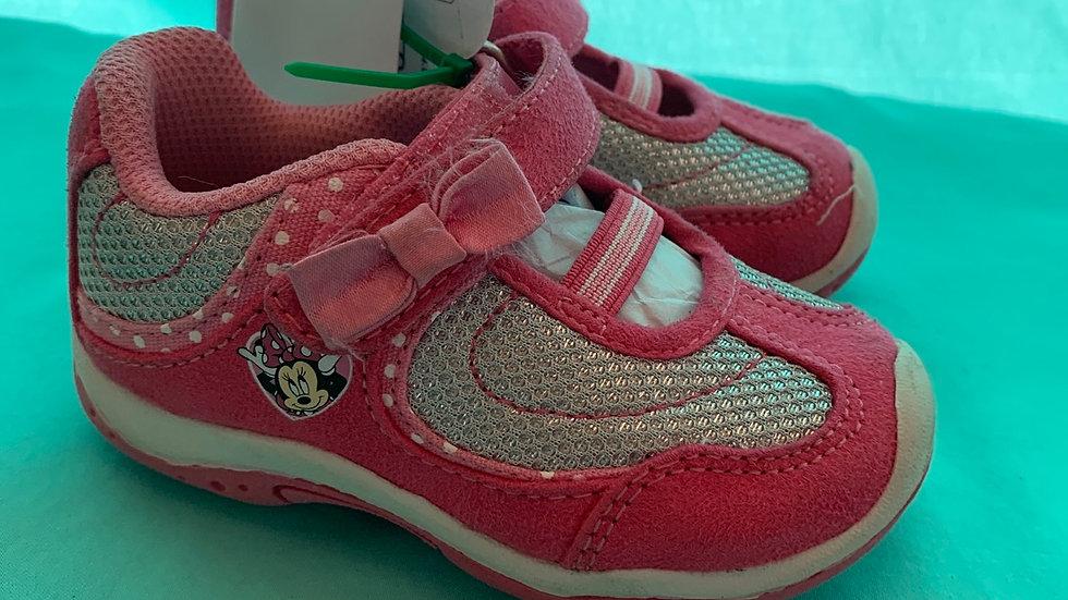 Little kid size 5, Disney Minnie mouse Velcro's pink sneaker