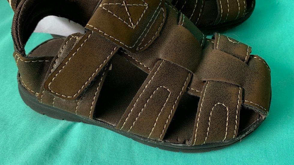 Little kid size 8, brown sandals