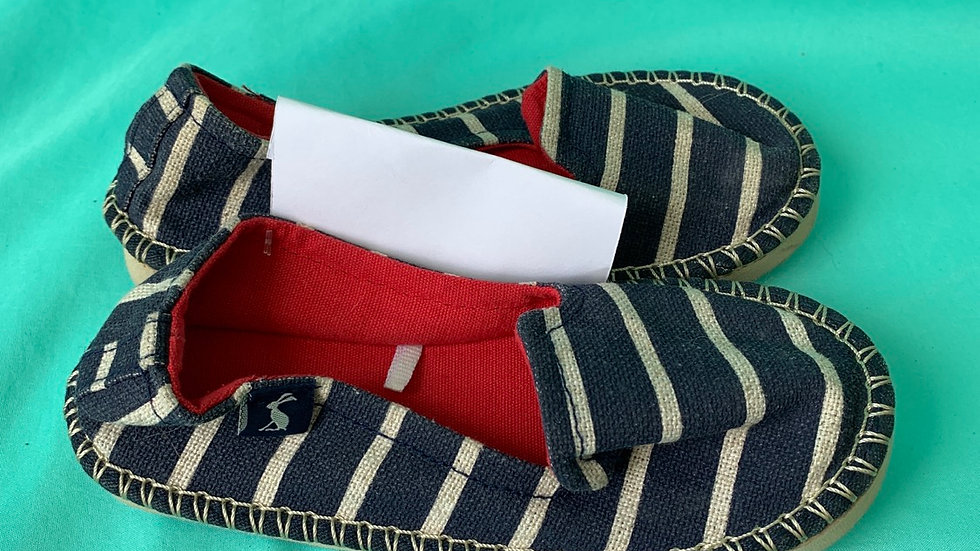 Little kid size 11, Joules espaddrilles navy white stripe shoe