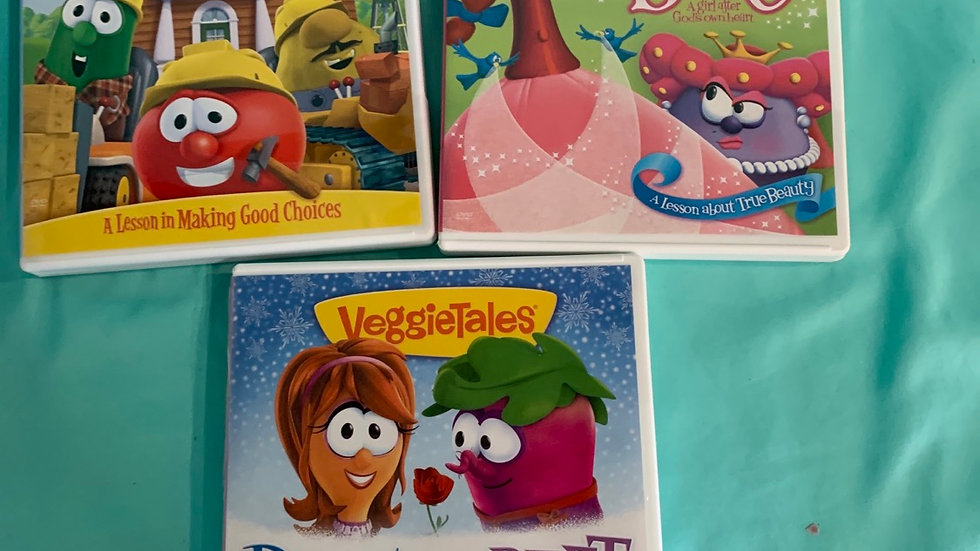 Veggie tale DVD three pack, 169