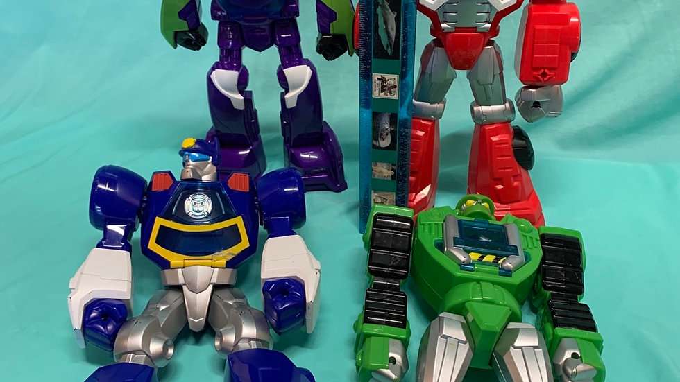 Rescue bots large figure set of four