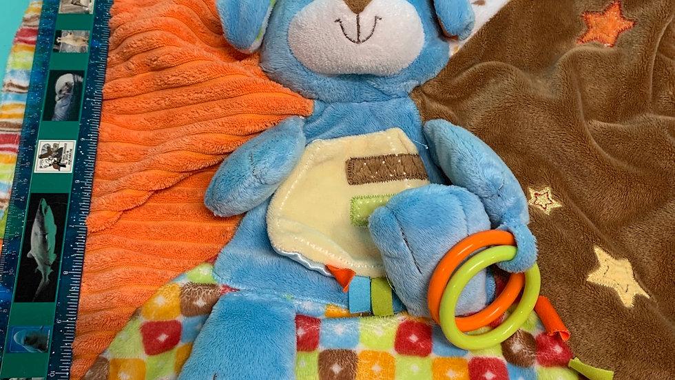 Blue bear tag blanket