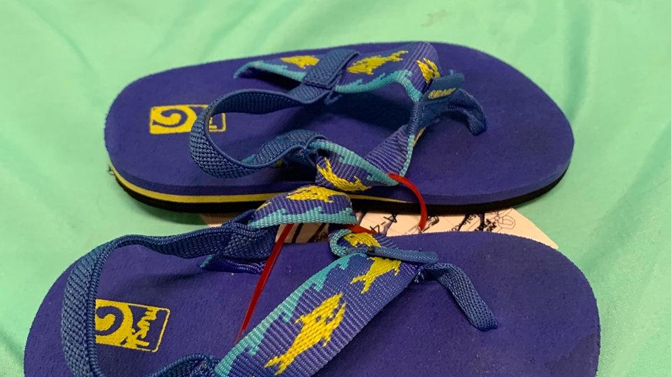 Little kid size 6, Teva sandals blue