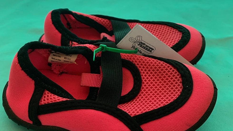 Little kid size 5, pink black water shoe