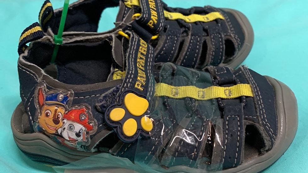 Little kid size 7, paw patrol sandals