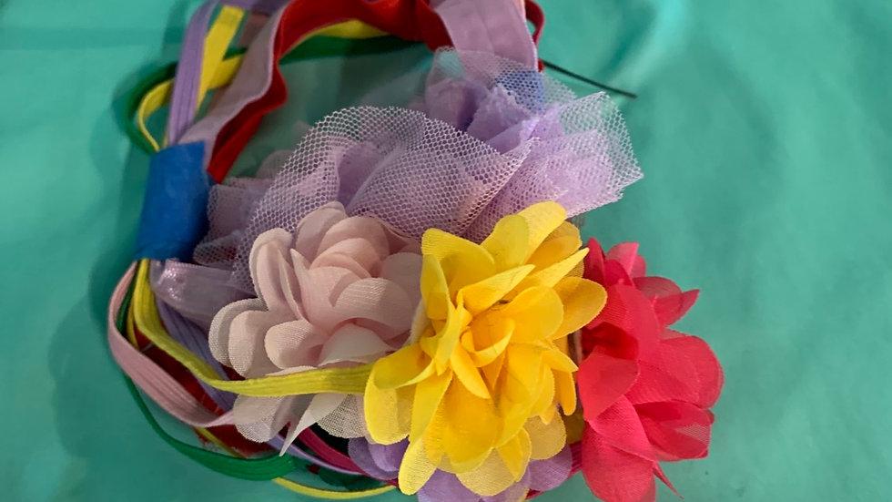 8 headbands with flowers