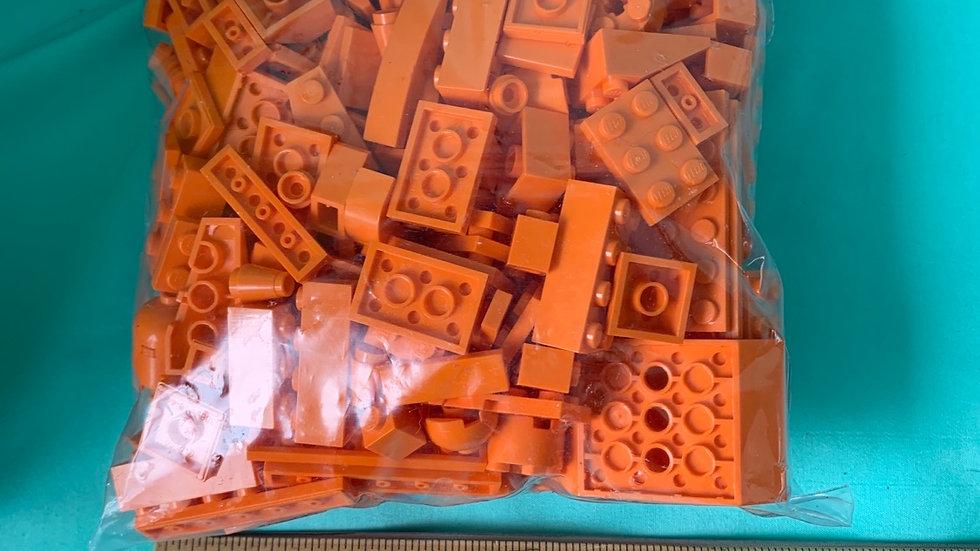 Orange 1 pound Lego