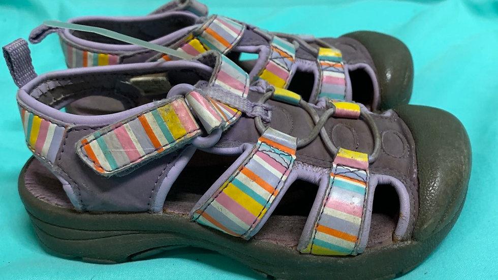 Little kid size 8, purple sandals
