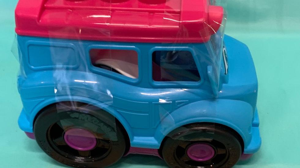 Mega block storyteller blue bus with five blocks