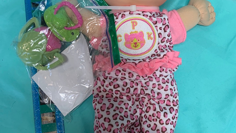 Cabbage patch doll pink leopard outfit