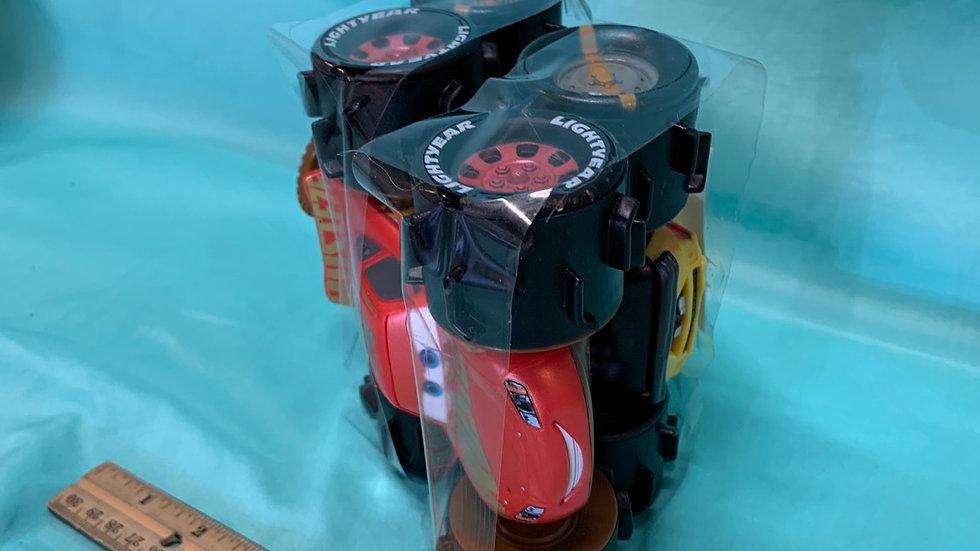 Lightning McQueen, taco all terrain racers pull string