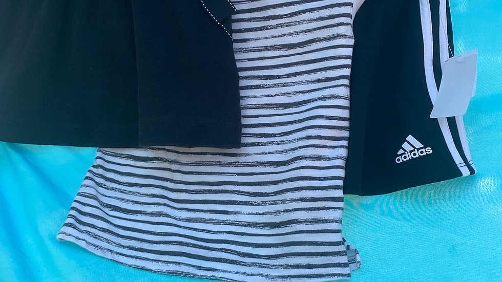 Size 3t, black and white three-piece 2 skirt