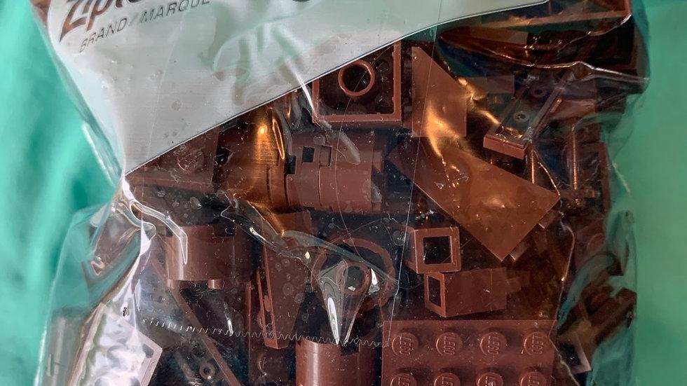 Dark brown Lego pieces