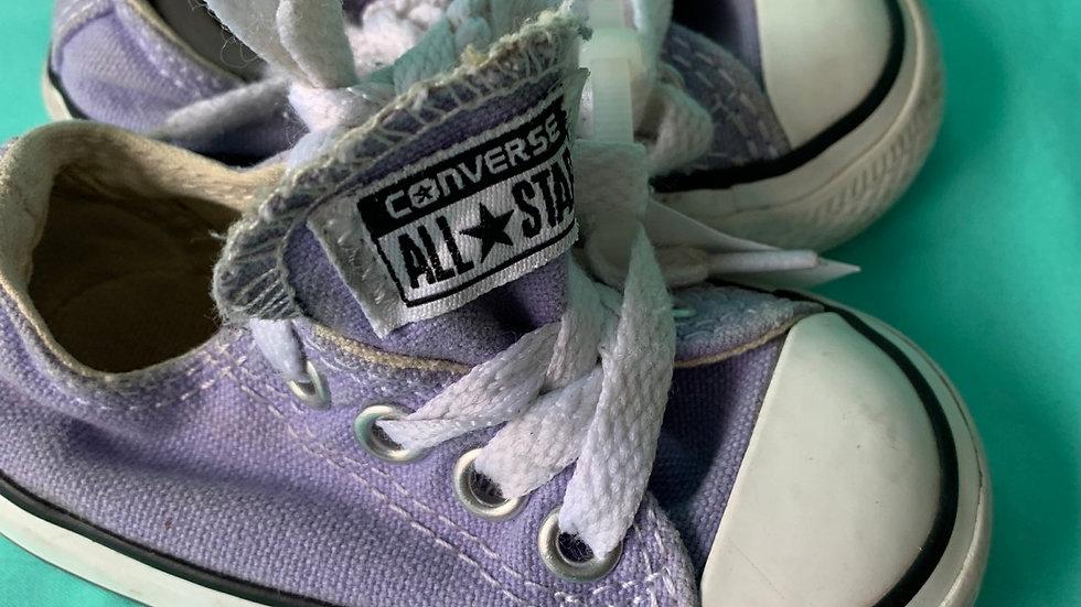 Little kid size 3, purple converse