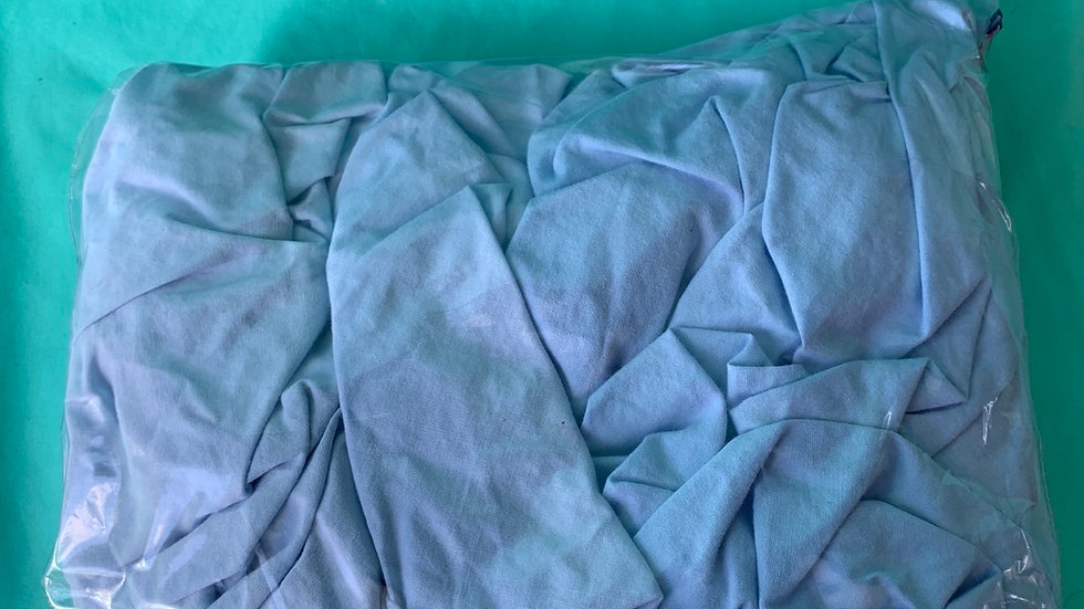 To light blue mini crib, playpen fitted sheets