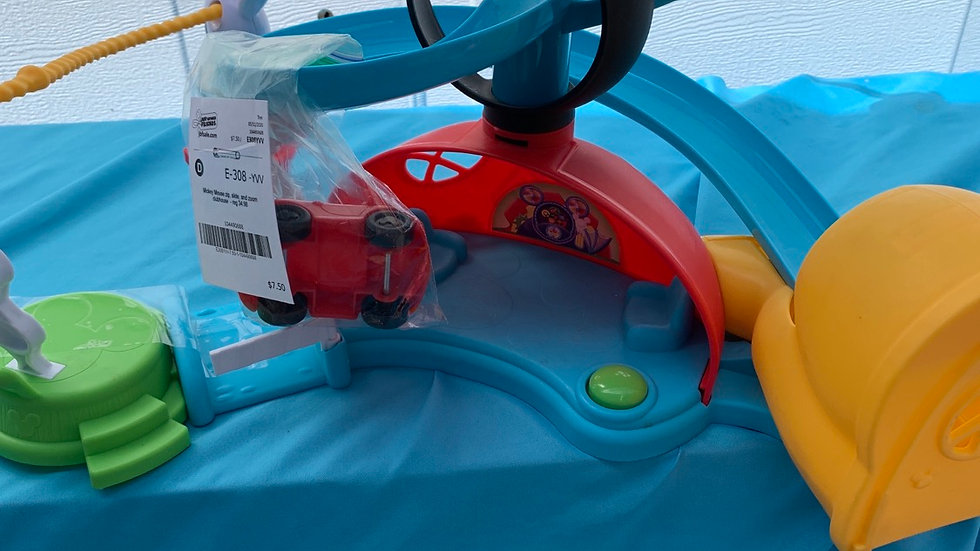 Mickey Mouse zip slide in Zoom clubhouse retails for 34.98