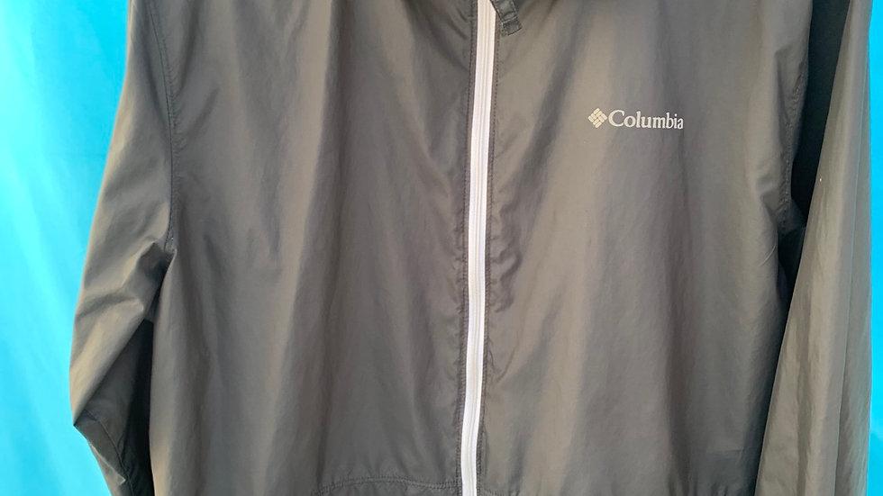Size small, 4-6, Columbia black light rain jacket