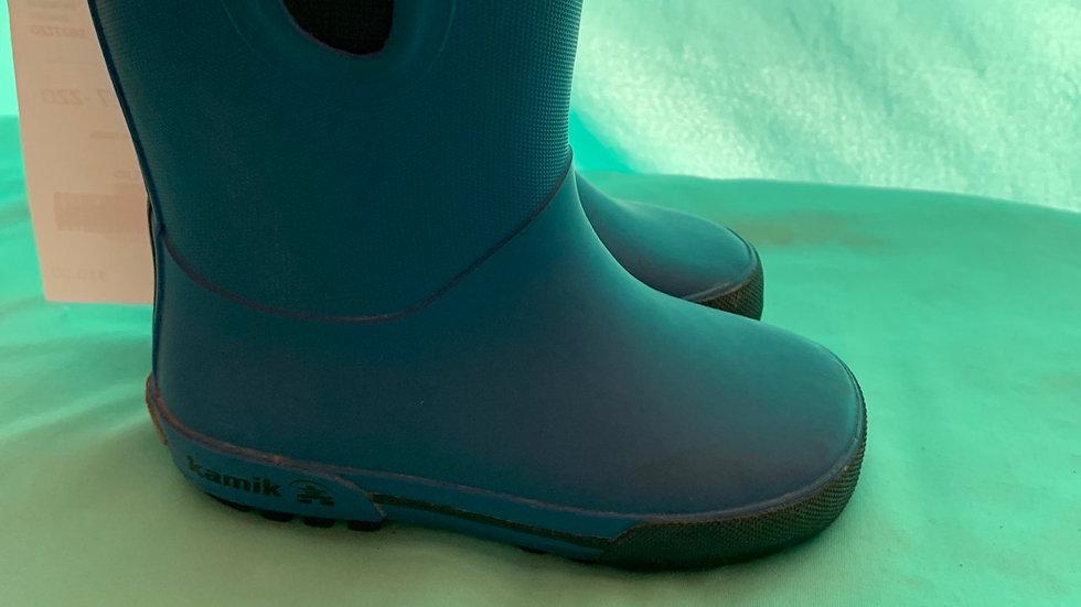 Little kid size 8, kamik waterproof blue rainbow
