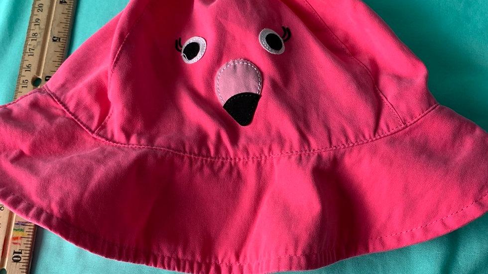 Hot pink flamingo hat 50 cm toddler size