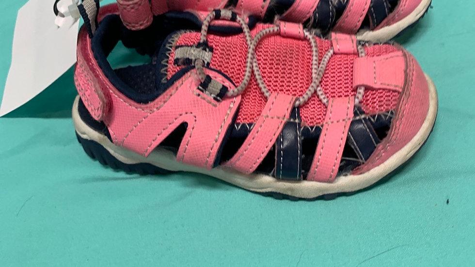 Little kid size 8, Carter's pink blue sandal