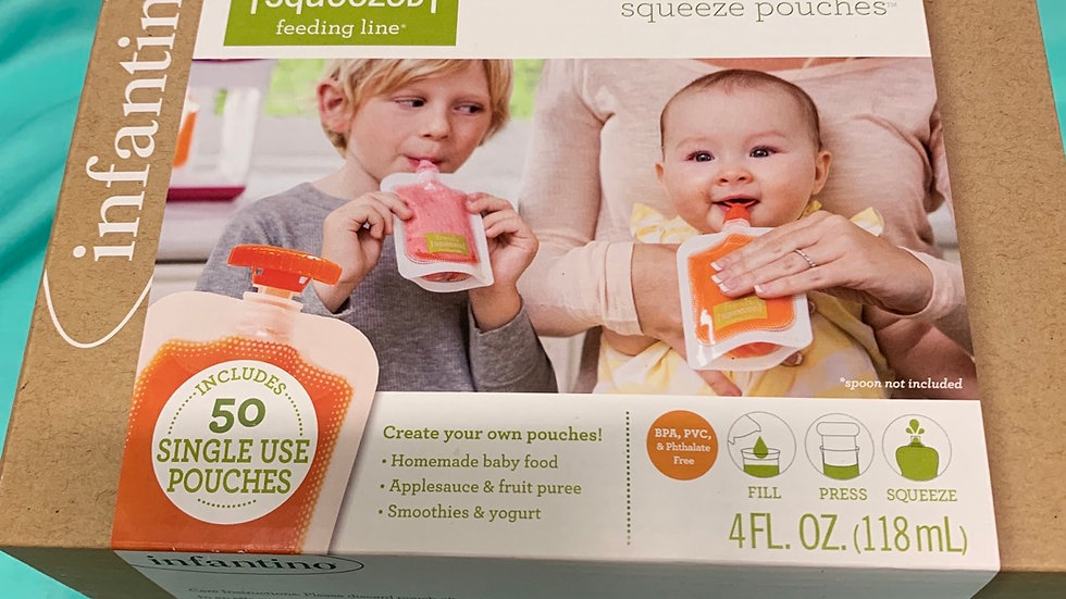 Infantino  50 pack squeeze pouches brand new retail 17