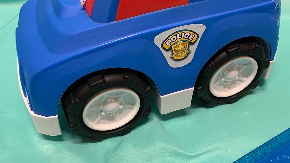 Big blue plastic police car