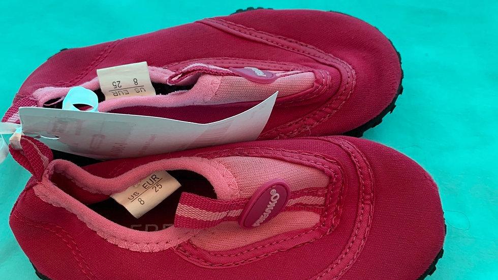 Little kid size 8, fresco pink water shoes