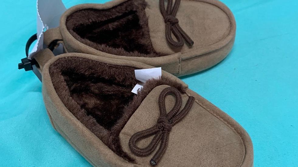 Little kid size 5/6, brown faux for slipper