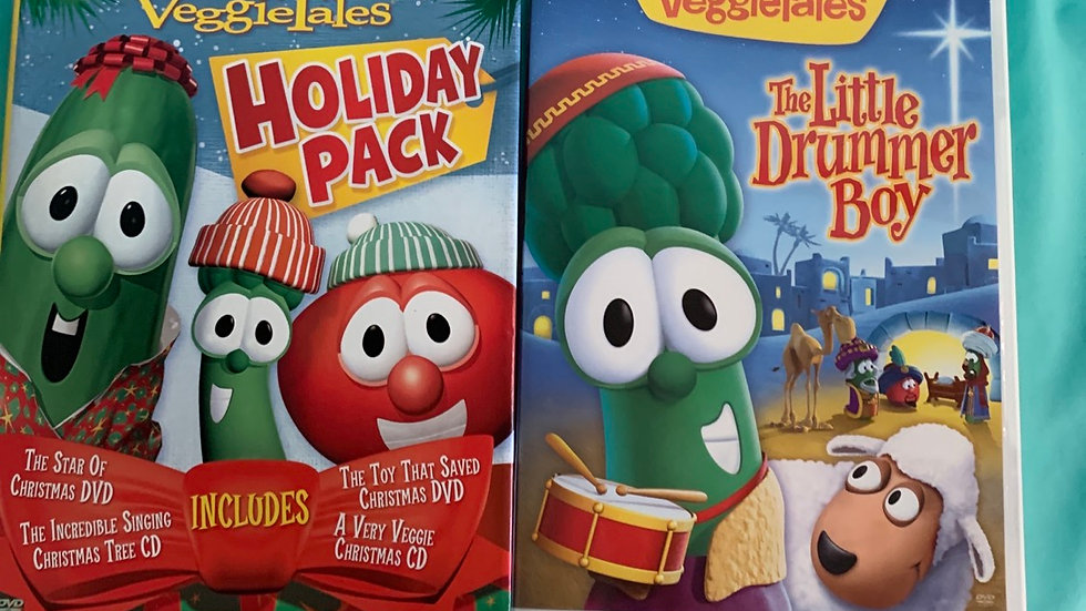Veggie tale DVD 2 pack , 5 DVDs total 170