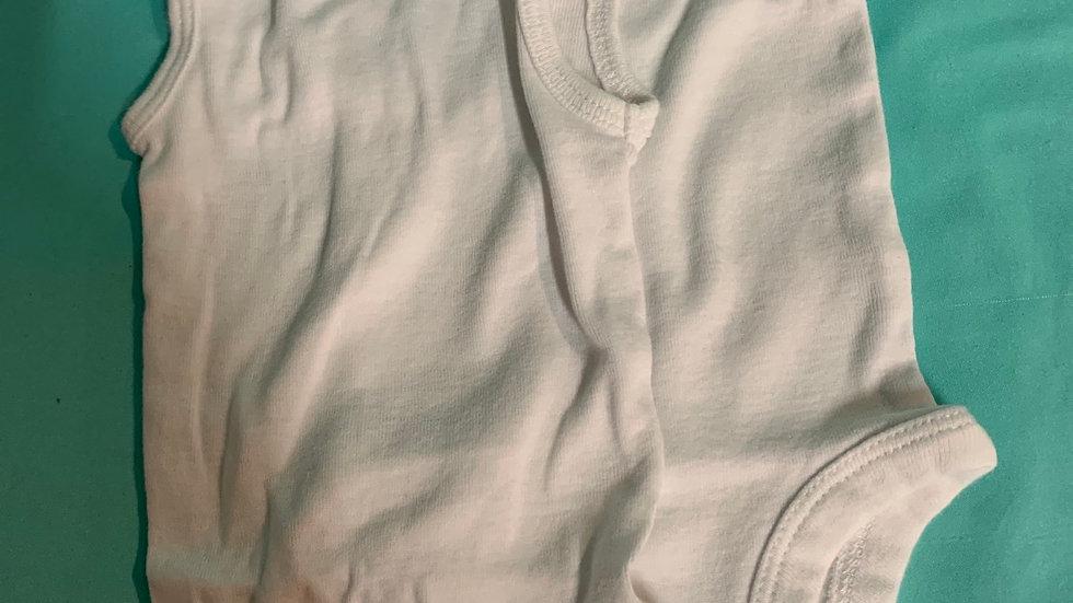 Newborn 2 tank top white onesies