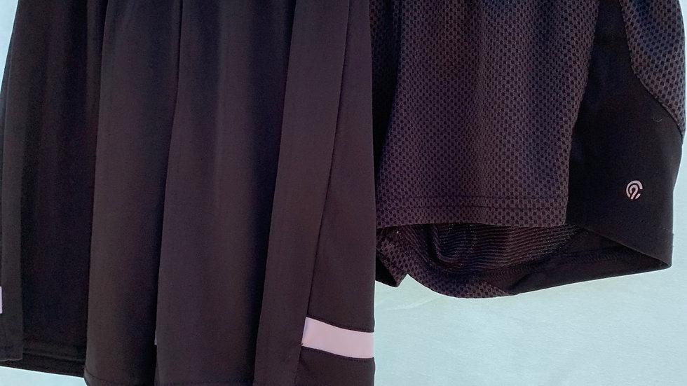 Size 6, two black shorts