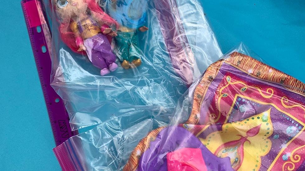 Shimmer shine magic carpet flying with talking dolls