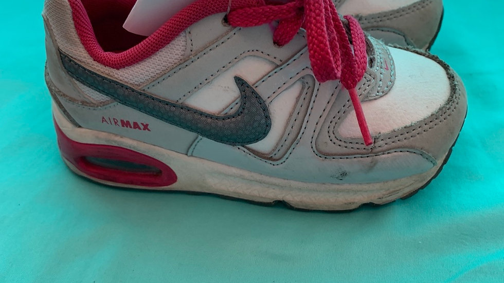Little kid size 8, Nike air max pink white