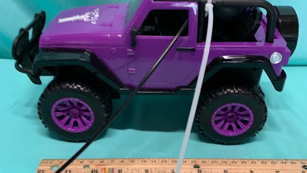 Girl amazing remote control jeep purple black