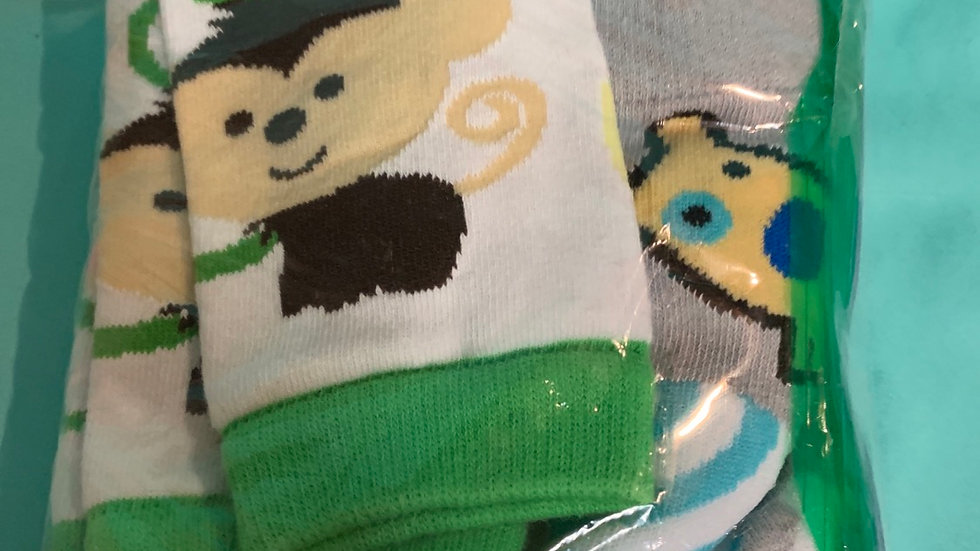 Two pairs legwarmers dog, monkey, new without tag