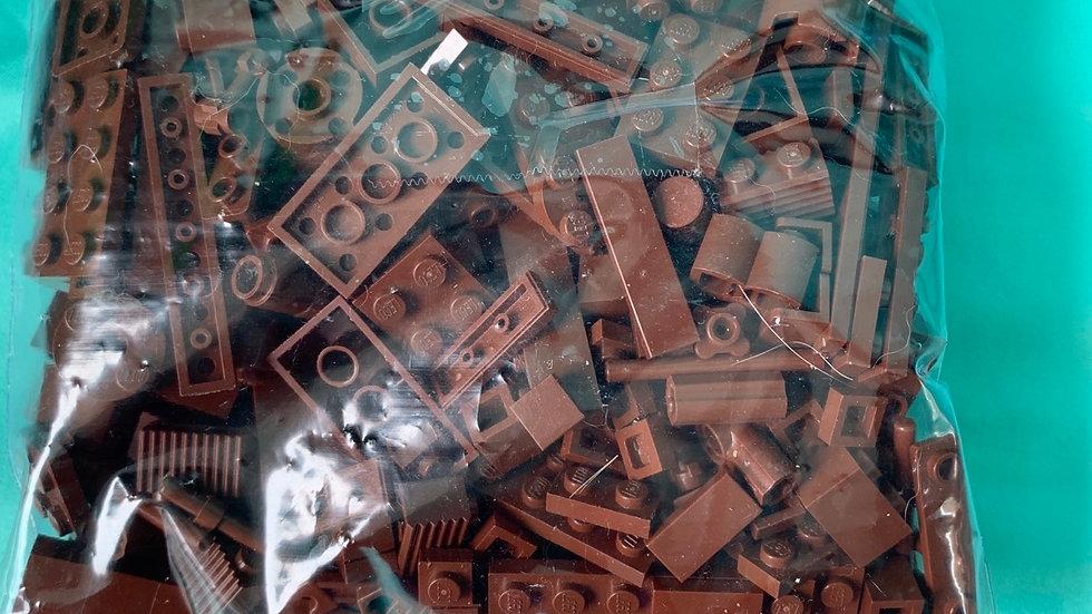 Dark brown Legos