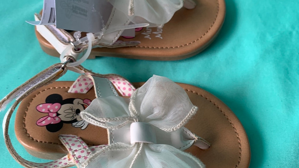 Little kid size 5, mini mouse white sandal