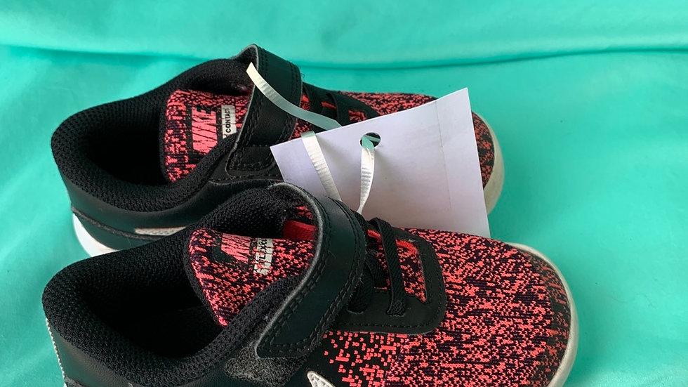 Little kid size 9, pink, black Nike