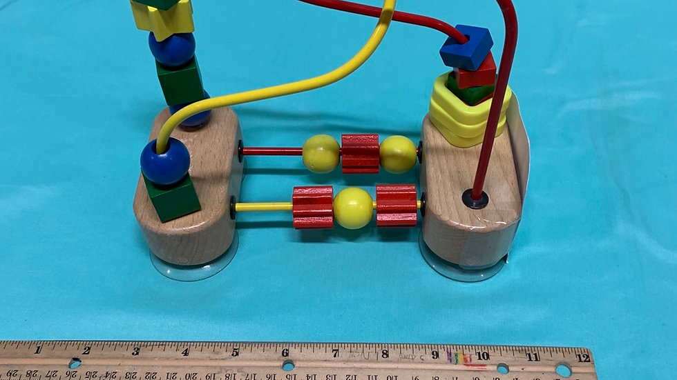 Melissa and Doug bead maze with suction cups on bottom