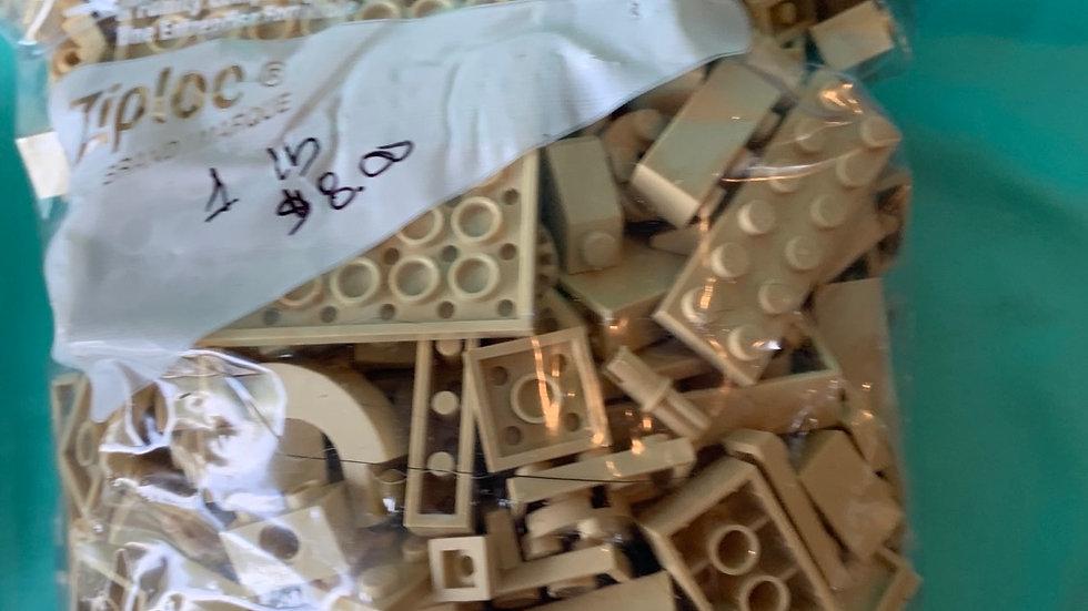 Cream Lego pieces
