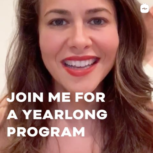 JOIN ME FOR A YEARLONG PROGRAM