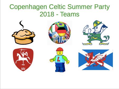 Copenhagen Celtic Summer Party 2018 - Update