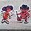 Thumbnail: Blue & Red Oni Vinyl Stickers - Set of 4