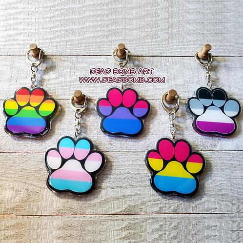 Pride Paws - LGBTQ+ Acrylic Charms